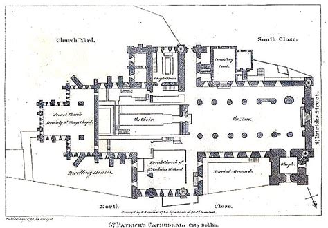 cathedral of learning floor plan file dublin st patrick s cathedral plan jpg wikimedia
