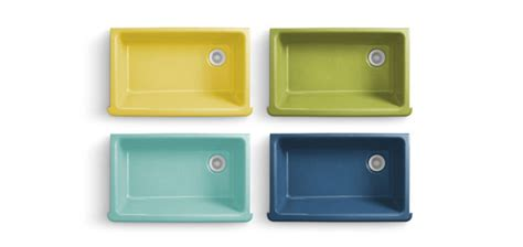 coloured kitchen sinks are you ready for a colorful kitchen sink 187 curbly diy