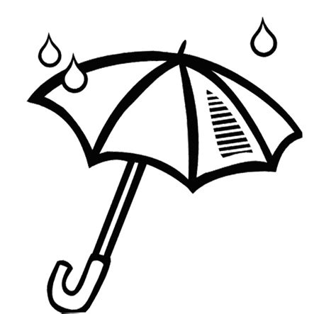 coloring page of umbrella umbrella coloring page clipart best