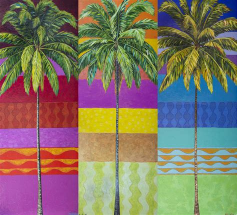 colorful palm trees painting quot colorful palm trees quot original by