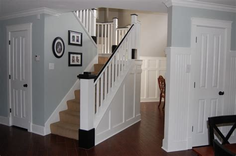 How To Renovate Wooden Stairs by Painted Wood Stair Remodel Remodelaholic