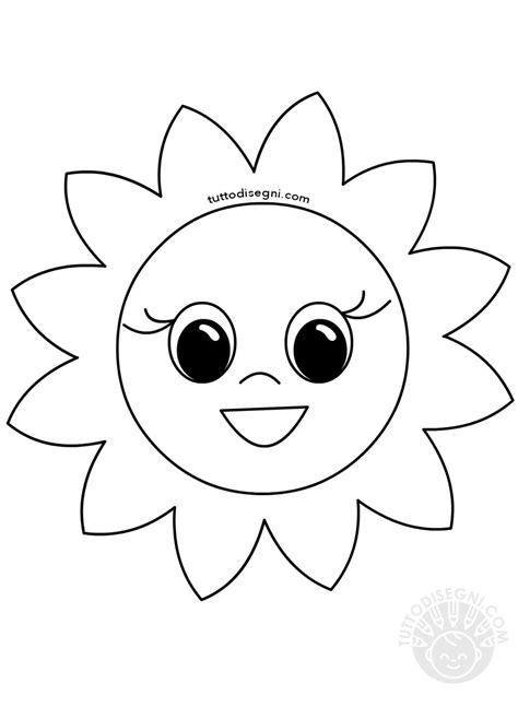 immagini fiore da colorare disegno fiore sorridente da colorare tuttodisegni