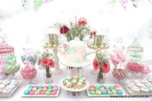 floral high tea bridal shower with really cute ideas via