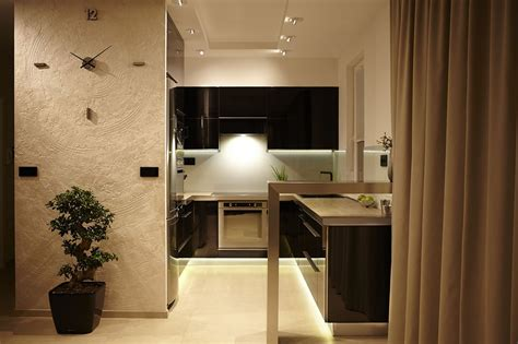 e appartamenti affinamento moderno presentato in un appartamento a budapest