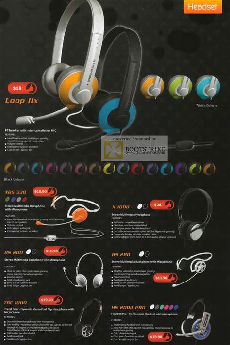 Headset Sonic Gear Hs Loop Ii X Warna Stok leap frog sonic gear headset loop iix xbs 330 microphone x