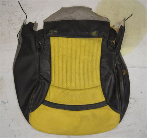 chevy corvette  sport driver side  seat cover yellow black