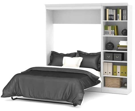 murphy bed headboard 84 in full wall bed in white contemporary murphy beds
