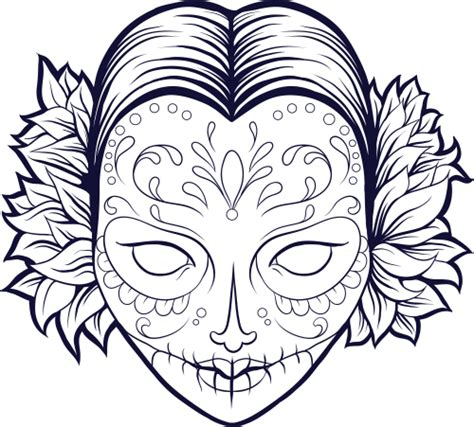 Free Coloring Pages Of Open Skull Sugar Skull Coloring Pages