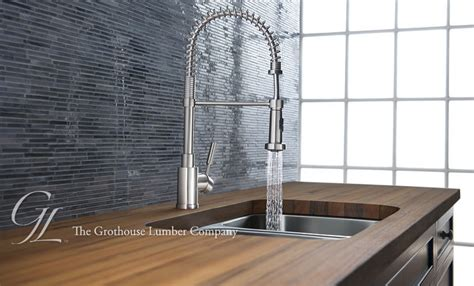 Dornbracht Tara Kitchen Faucet by Custom Solid Wood Countertops And Wood Counters By Grothouse