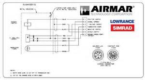 simrad airmar p66 50 200khz 600w depth speed temperature tm triducer w blue connector