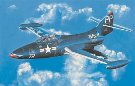 wallpaper war art painting aviation jet grumman ff