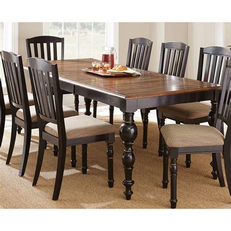 steve silver carrolton dining table medium oak black