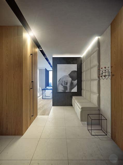 projekt przedpokoju  nowoczesnym stylu inspiracja