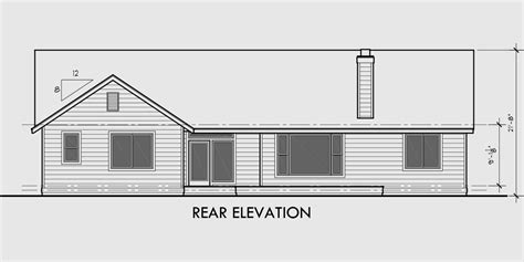 house designs with master bedroom at rear single level house plans ranch house plans 3 bedroom
