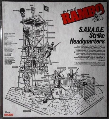 figure headquarters rambo strike headquarters figure play set