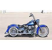 Covingtons Blue Heritage Custom Harley Motorcycle