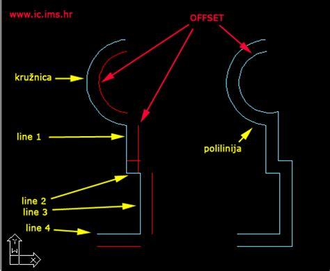 autocad tutorial offset command offset lines in autocad civil engineering