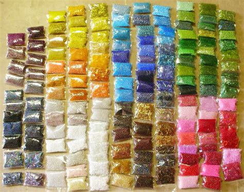 posten  pack roccailles glas perlen     mm