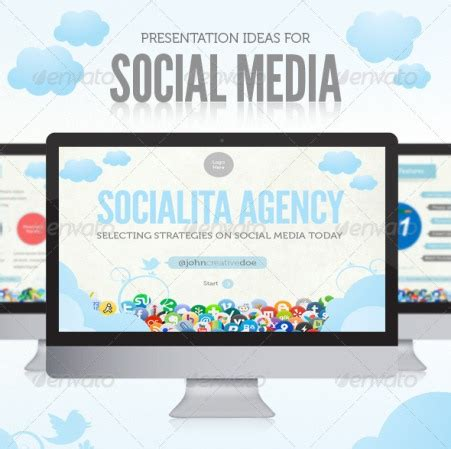 Free And Premium Microsoft Powerpoint Templates Free Social Media Template