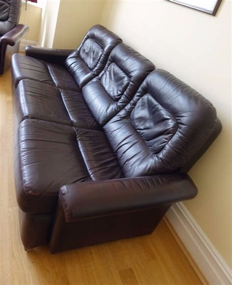 harrods sofas ex harrods genuine leather sofa suite in isleworth