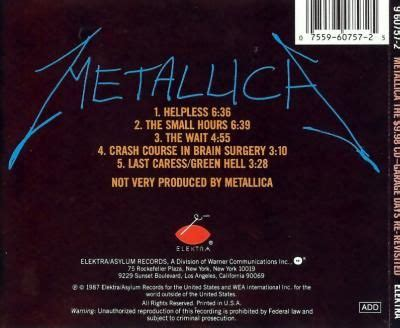 metallica the 9 98 cd garage days re revisited on