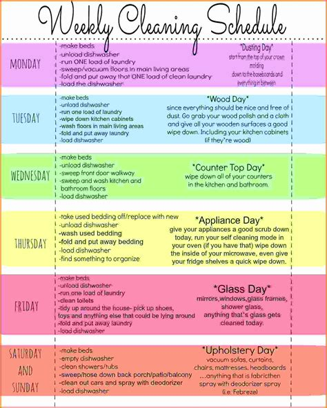 cleaning calendar template weekly house cleaning schedule cleaning schedule jpg