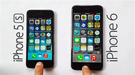 compare iphone 5s and 6 iphone 6 vs iphone 5s speed test