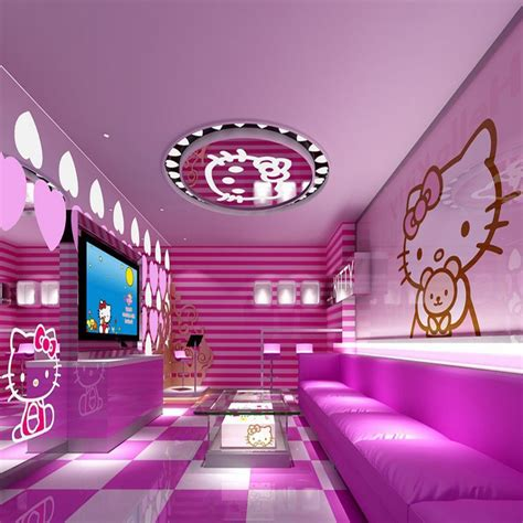 cat wallpaper room aliexpress com buy deft design pink color hello kitty
