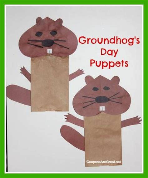 groundhog day crafts crafts for groundhogs day puppets stuff