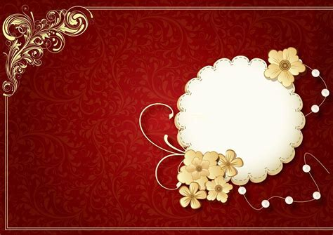 Indian wedding invitation background 12 » Background Check All