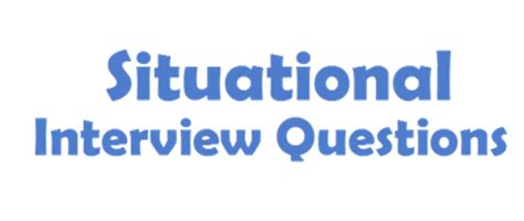 Mba Situational Questions by Image Gallery Situational