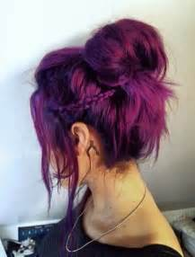 pretty hair colors 17 stylish hair color designs purple hair ideas to try