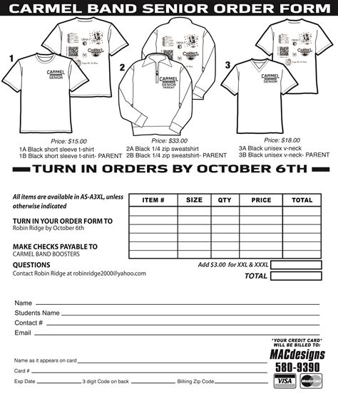 T Shirt Order Form Template Cyberuse Apparel Order Form Template