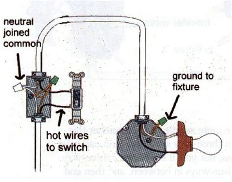 wiring a switch to a light fixture simple light switch wiring in rooms and bath fixture lighting