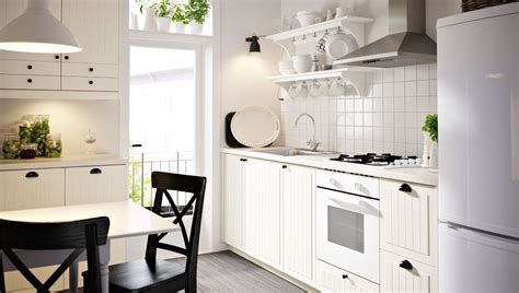 Kitchen With White Kroktorp Drawer Fronts And Doors And White Cabinets