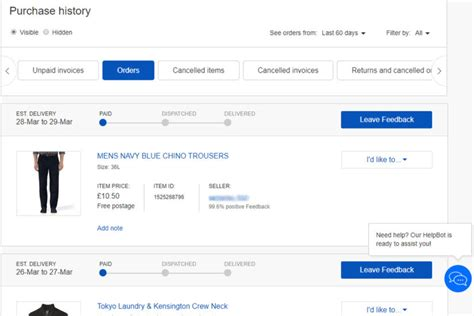 ebay purchase history ai chatbot added to new ebay purchase history page tamebay