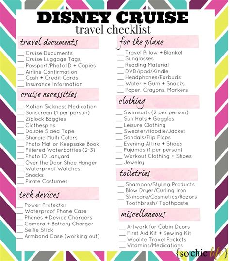 on a budget printable cruise packing list