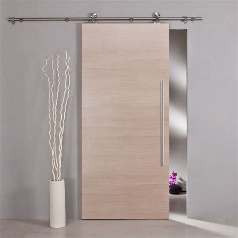 Wood Sliding Door by Wooden Sliding Door Sliding Barn Door System Set Hardware
