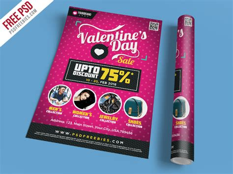 Free Psd Valentines Day Shopping Sale Flyer Template Psd By Psd Freebies Dribbble Dribbble Free Clothing Store Flyer Templates