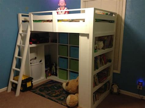 homemade loft bed ana white loft bed diy projects