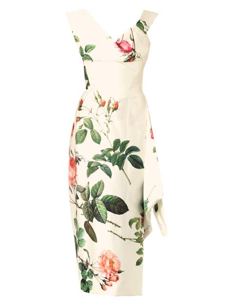 Delias Floral Print Satin Dress by Lyst Vivienne Westwood Gold Label Prestige Floral Print
