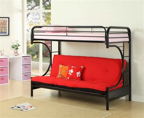 childrens bunk bed with futon twin over futon bunk bed with mattress included twin