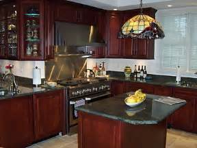 Cherry Kitchen Ideas by Modern Cherry Cabinet Kitchen Designs Image Of