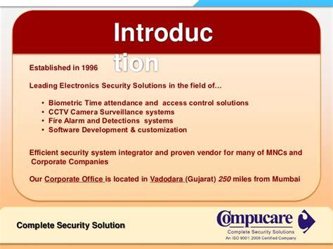 security company profile template company profile