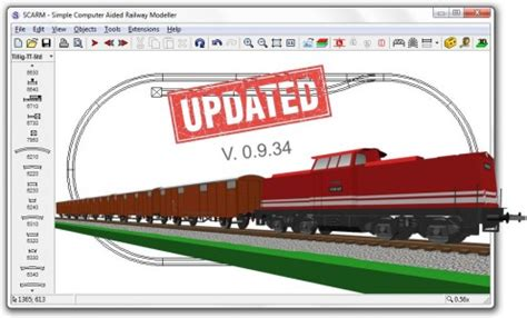 train layout design software the free layout design software scarm now with model