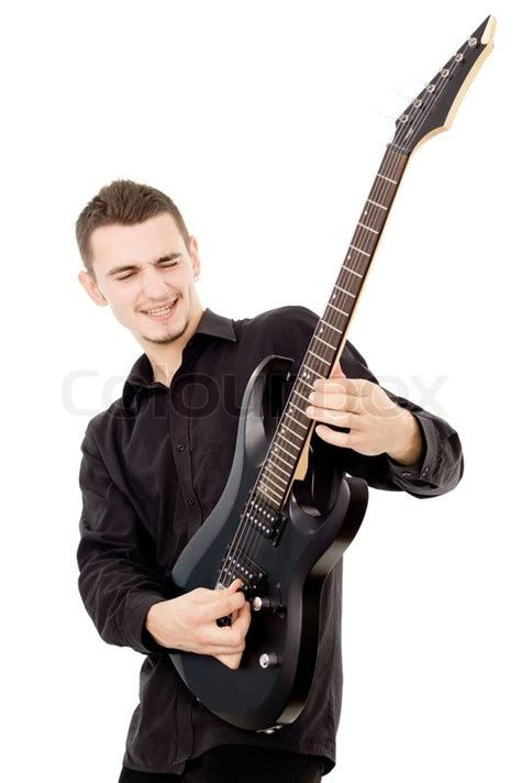 who is the guitar playing guy in the eliquis commercials beautiful guy is playing the guitar stock photo colourbox