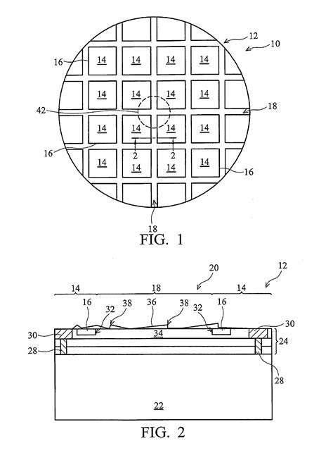 wafer integrated circuit definition patent us7265034 method of cutting integrated circuit chips from wafer by ablating with laser