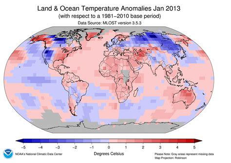 average january temperature world map global climate report january 2013 state of the