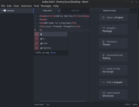 atom themes 2015 top best html editors in the world of linux
