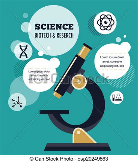 doodle science login clip vector of research bio technology and science